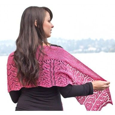 Cascade Ultra Pima Quatro Rose Garden Shawl Free Downloadable Pattern