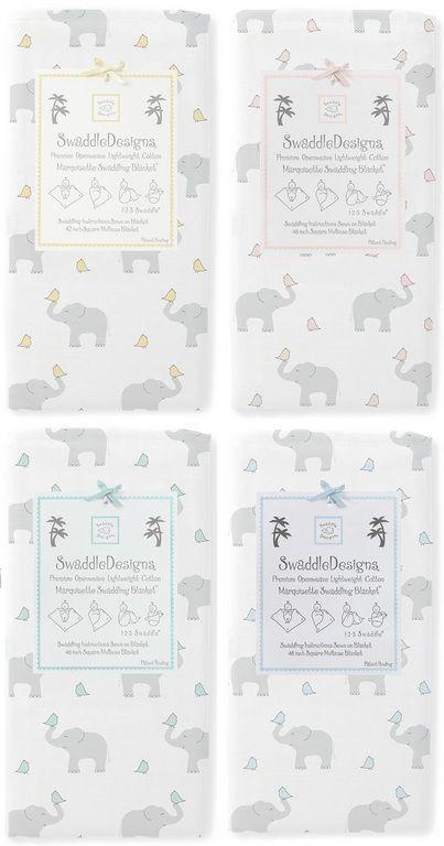 Пеленки, пеленальные одеяла - Пеленка детская тонкая 100% хлопок SwaddleDesigns Маркизет Elephant/Chicks (цвета в ассортименте)