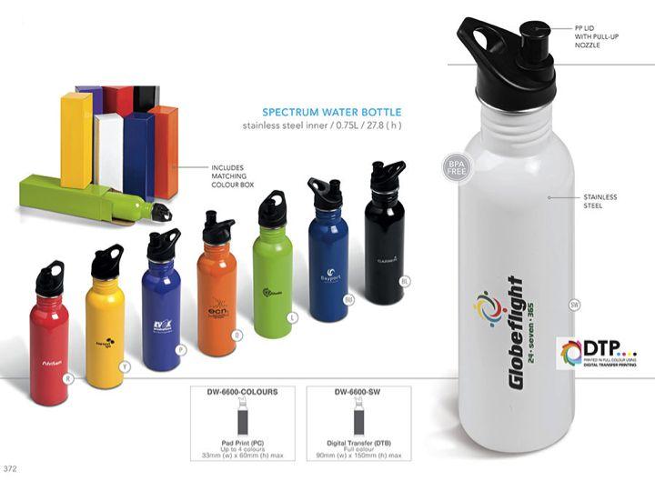 Stainless Steel Water Bottle, .75l Order NOW  http://www.glowmore.info/?p=229