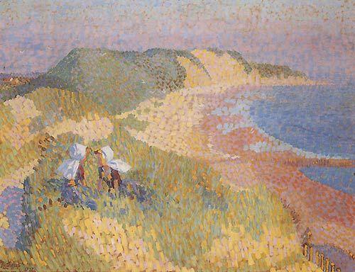 Jan Toorop, Duinen en de zee bij Zoutelande - 1907