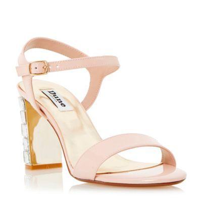 Dune Pink jewelled block heel sandal- at Debenhams.com