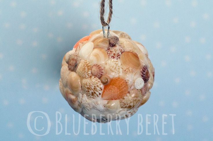 Seashell Ball Ornament 4.8cm  **Listing is for 1x Seashell Ball Ornament**  Made using a collection of na...   https://nemb.ly/p/N1zmjLcFW Happily published via Nembol
