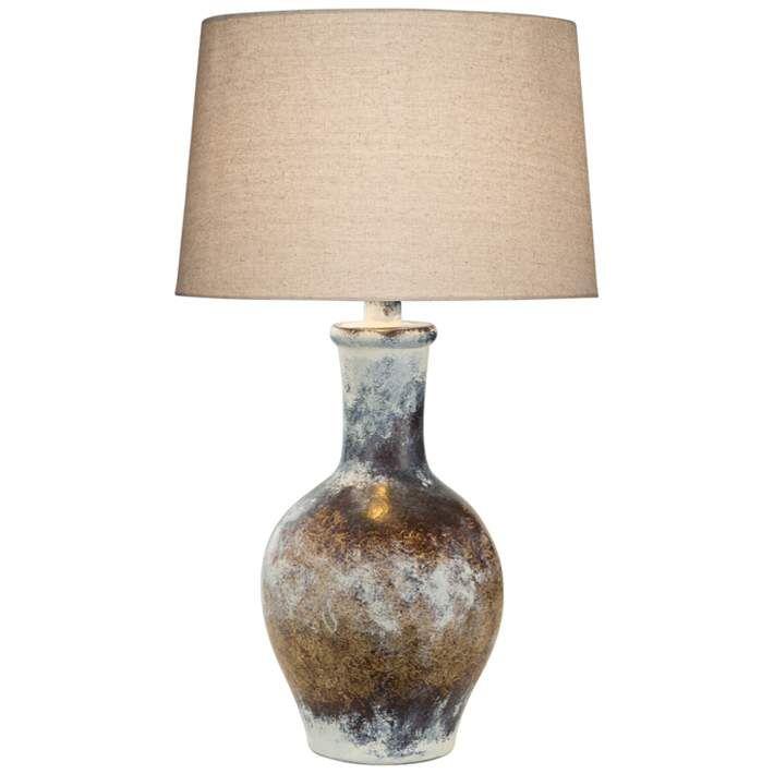 Cepeda Adobe Multi Color Hydrocal Vase Table Lamp 71w27 Lamps Plus In 2021 Vase Table Lamp Table Lamp Table Lamp Base