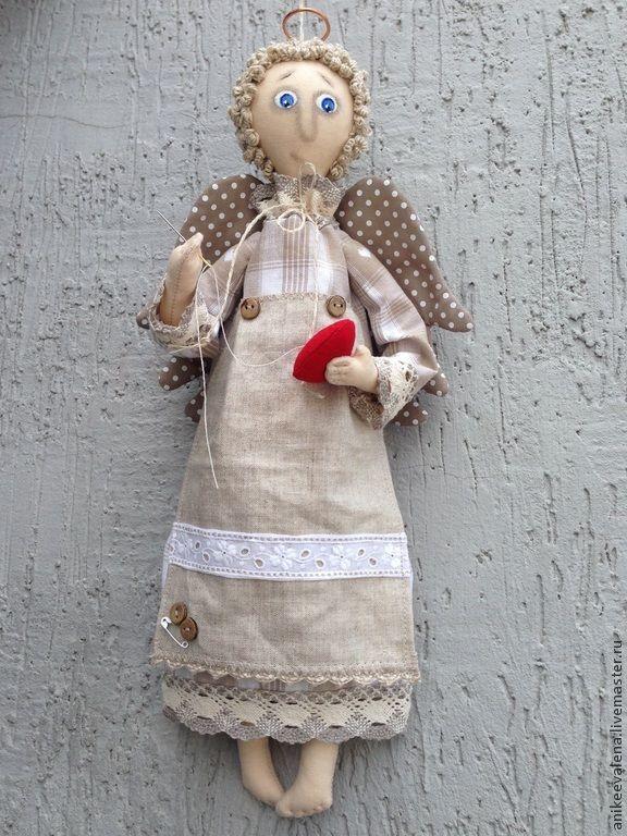 Купить СердеШных дел мастер:) - серый, ангел, ангел-хранитель, ангелочек, текстильный ангел