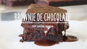 Resultado de imagem para brownie de chocolate super fácil menino prendado