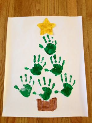 worthyoftheprize.com: {Hope for the Home}: A Charlie Brown Christmas and Hand Print Christmas Trees