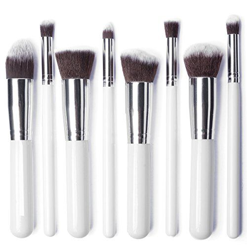 LuxeBell® Kit de Pinceau maquillage Professionnel 8PCS Ombre à Paupière blanc Blush Fondation Pinceau Poudre Fond de teint Anti-cerne | Your #1 Source for Beauty Products