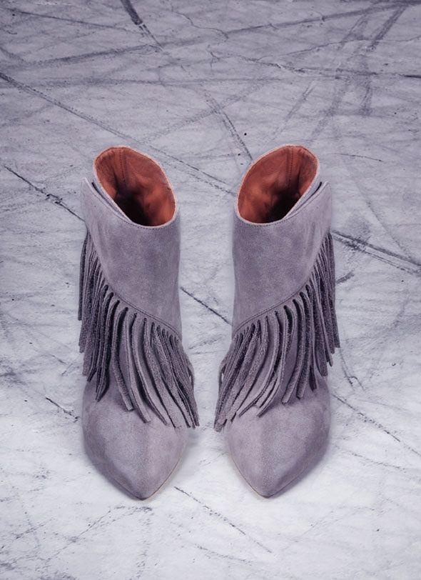 Eugene Riconneaus FW 2013 2014 l #boots #fringes.  Cute!!!!!