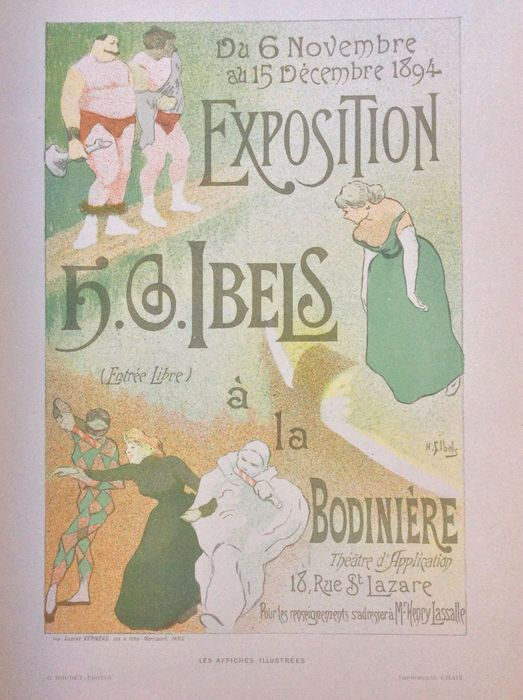 "Henri Gabriel Ibels - 'Exposition H. G. Ibels' poster uit de serie 'Les Affiches Illustrées'  Original Lithograph Printer: Chaix Year: 1896 22.5 x 31.5 cm Signed in the Stone Limited to 1025 lithographs In good antique conditionsee photo's comes with original protective paper/tissue sheet. Send Registrered within the EU. Les Affiches Illustrees was printed in Paris by Imprimerie Chaix who also printed ""Les Maitre de l'Affiche."" Published in two bound volumes in 1886 and 1896 offering 84…"