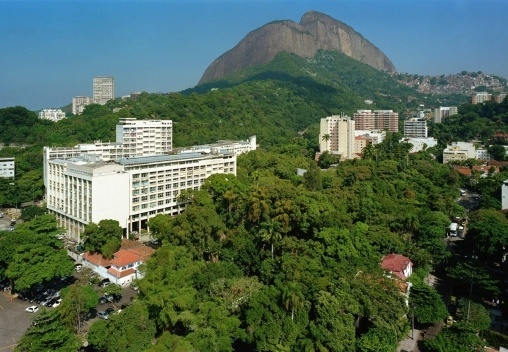 An aerial view of campus for an exchange program in Rio de Janeiro, Brazil