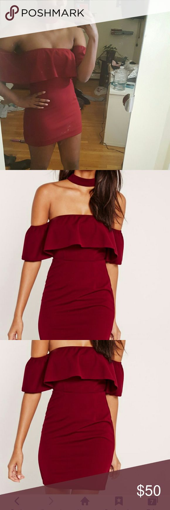 Strapless Choker Dress Never been worn (except to try it on).It looks pretty cool on! Missguided + Dresses Strapless