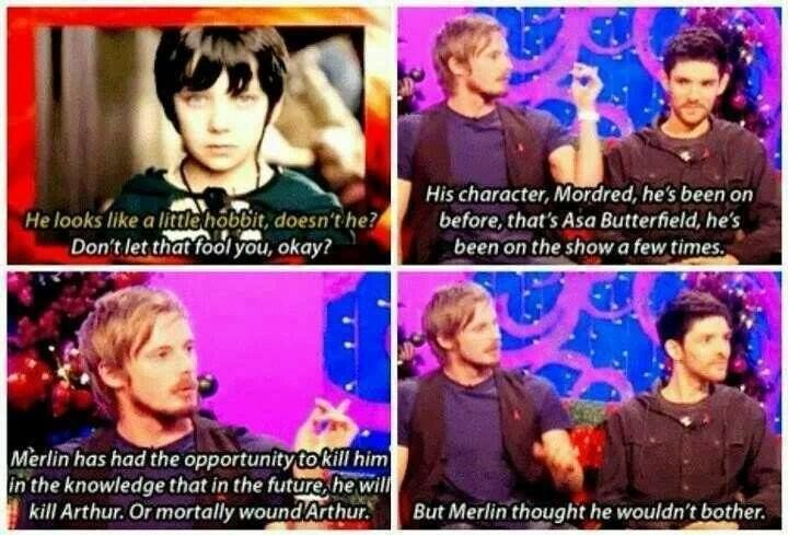 but merlin thought he wouldnt bother!!!! lol!