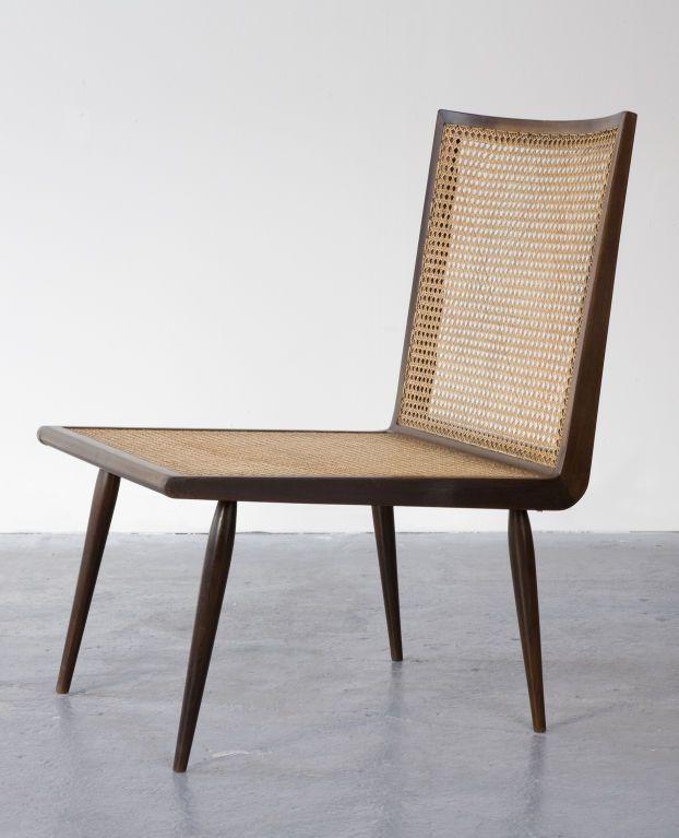 Joaquim Tenreiro; Jacaranda and Cane Low Chair, 1960s.