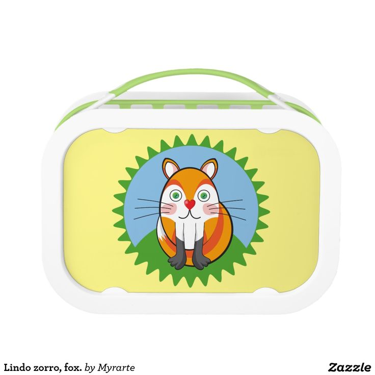 Lindo zorro, fox. Producto disponible en tienda Zazzle. Product available in Zazzle store. Regalos, Gifts. Link to product: http://www.zazzle.com/lindo_zorro_fox_lunch_box-256843239427172721?CMPN=shareicon&lang=en&social=true&rf=238167879144476949 #lonchera #LunchBox #zorro #fox