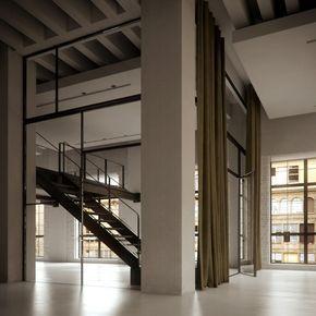 Lange gordijnen - Chicago Loft Interior by Bertrand Benoit