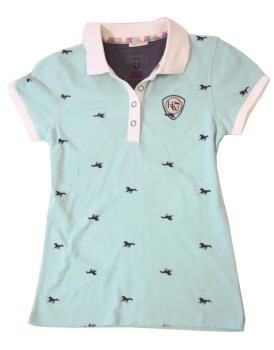 Horseware Ashlinn Horse Print Ladies Polo Shirt 2015