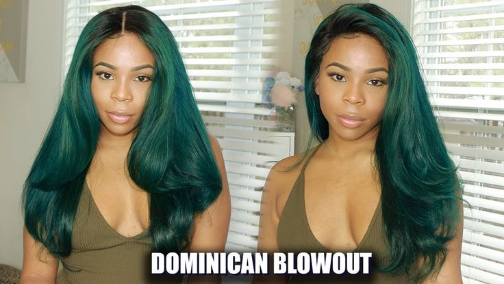 How to do a Dominican blowout on your lace wig - YouTube