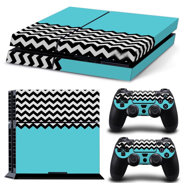 >> Click to Buy << black and white stripes with blue design skin sticker wrap protector for PS4 console and two controllers skin   #TN-P4-0341 #Affiliate