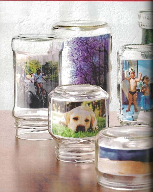 Faça você mesmo: Porta retratos com potes de vidro!