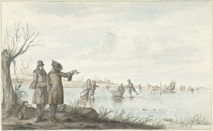 Wintergezicht, Gerrit Grasdorp, 1661 - 1693