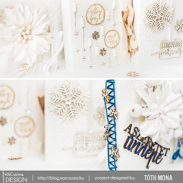 I made 5 different #christmas #minialbum ❄️🎄🎁 Check it out on the @noicsizmadesign blog. 😍 #scraphun #noicsizmadesign #scrapbook #scrapbooking #scrapbookalbum #cardmaking #papercraft #embellishments #chipboard #album #merrymaking #xmas #christmasscrapbook