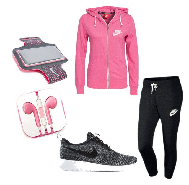 """Jogging outfit"" by basketballgirlkc-kc ❤ liked on Polyvore"