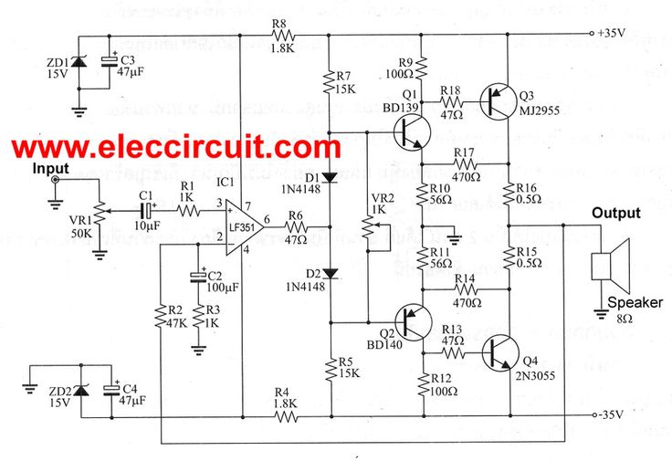 This 50W OCL main amplifier circuit has high quality and economical,it is designed simple,easily created, electronics rookie.cheap when compared to other