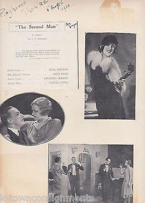 THE SECOND MAN ZENA DARE URSULA JEANS PLAYHOUSE THEATRE SCRAPBOOK PAGE 1928