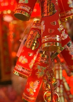 It is tradition to set off firecrackers at midnight to celebrate the arrival of the Lunar New Year.