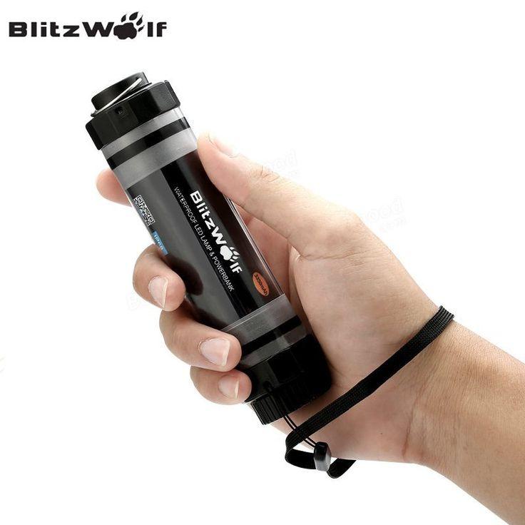 BlitzWolf BW-LT5 Pro 3350mAh IP68 Waterproof Emergency Lantern LED Light Power Bank Charger External Battery Pack For Phone