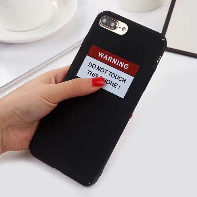 Funny WARNING Letter Cartoon Case For iphone 6 Cases For iphone 6S - Warning Letter