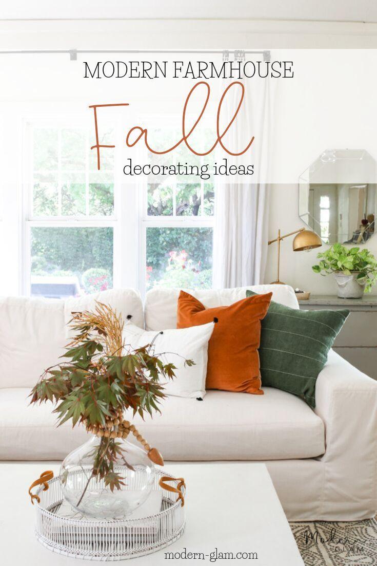 Modern Farmhouse Fall Decorating Ideas   Fall decor, Easy fall ...
