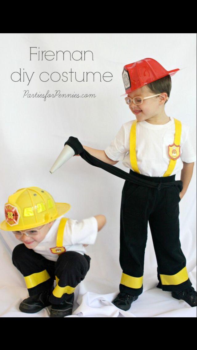 Fireman costume diy                                                                                                                                                                                 More