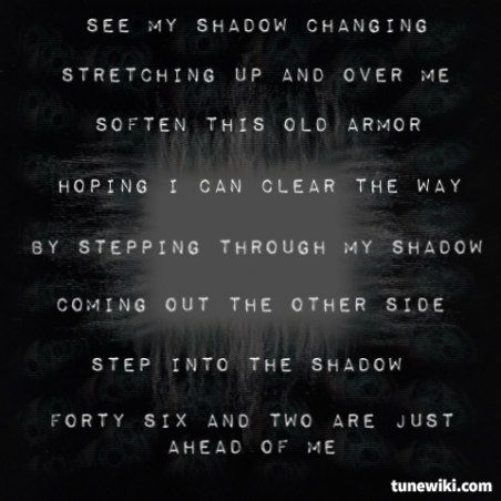 forty six and 2 by tool metaphysical Forty six & 2 lyrics: join in my join in my child / and listen digging through my old numb shadow / my shadow's shedding skin / i've been picking scabs.