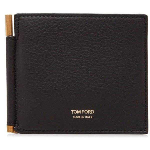 Tom Ford Leather Bifold Wallet With Money Clip ($340) ❤ liked on Polyvore featuring men's fashion, men's bags, men's wallets, brown, mens leather bifold wallet, mens brown leather wallet, mens bifold wallet, mens leather wallets and bi fold mens wallet