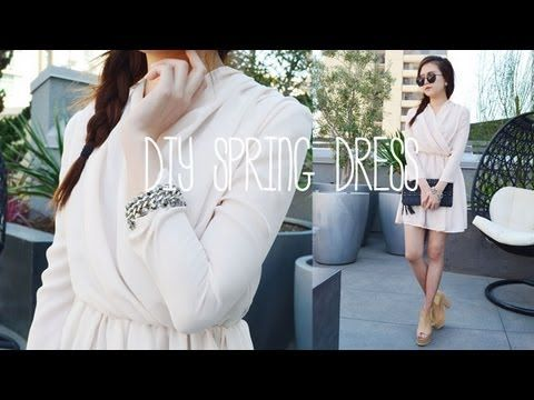 DIY Spring Pleated Dress