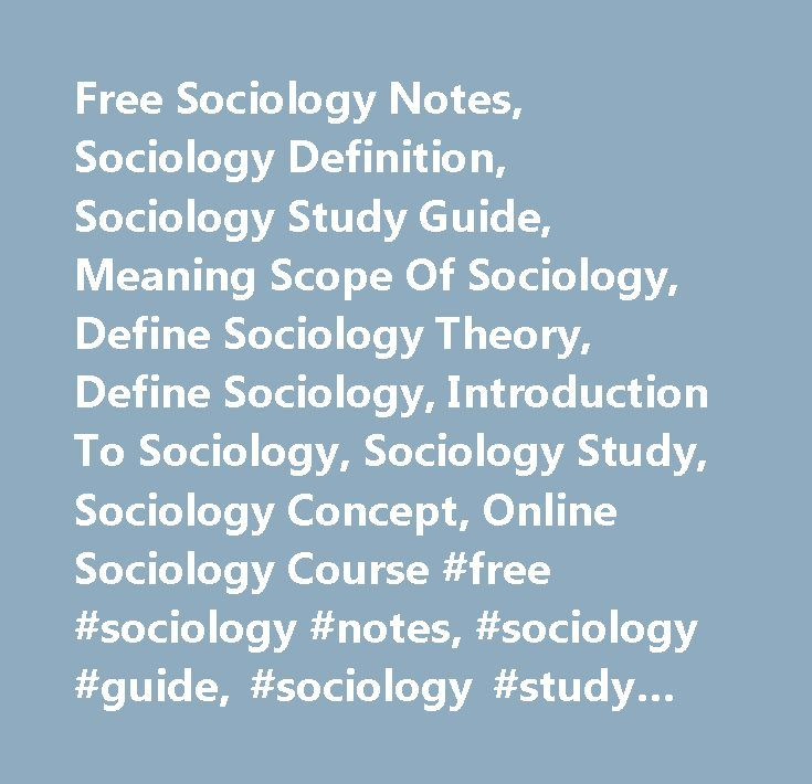 sports sociology definition description and scope What is applied sociology i begin with a general introduction into the discipline of sociology, before providing a definition of its applied branch.