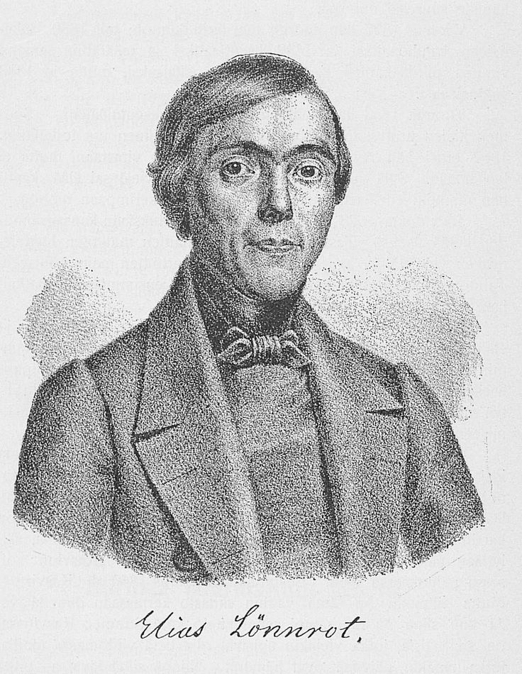 Elias Lönnrot (1802-1884)  Kompilerade Nationaleposet Kalevala och ett Finskt-Svenskt Lexikon
