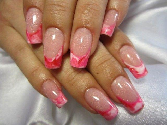 Nailart Wassertechnik Hello Kitty Pink - AleNail