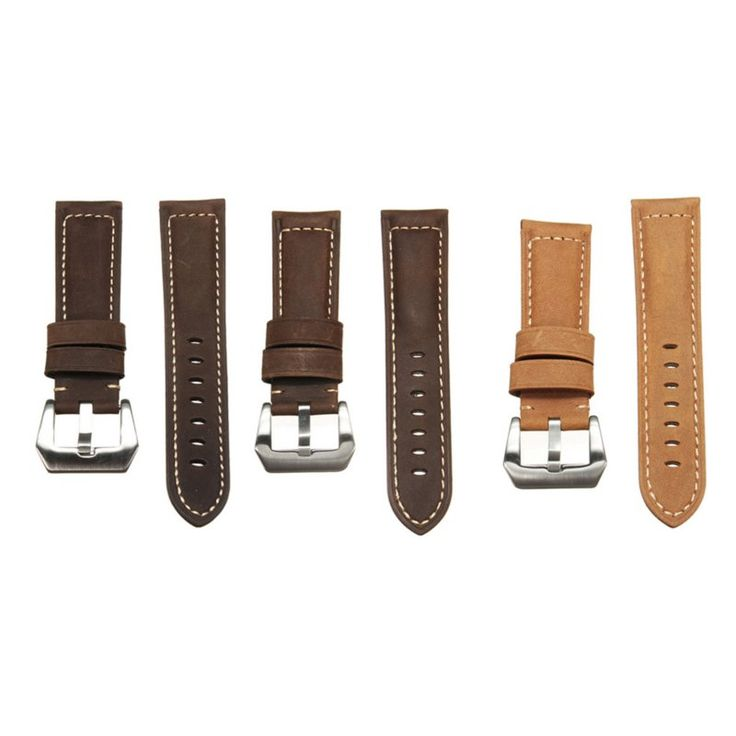 Mens Leather Watch Band Strap 22 24mm Dark / Light Brown for Panerai iWatch  Worldwide delivery. Original best quality product for 70% of it's real price. Hurry up, buying it is extra profitable, because we have good production sources. 1 day products dispatch from warehouse. Fast &...