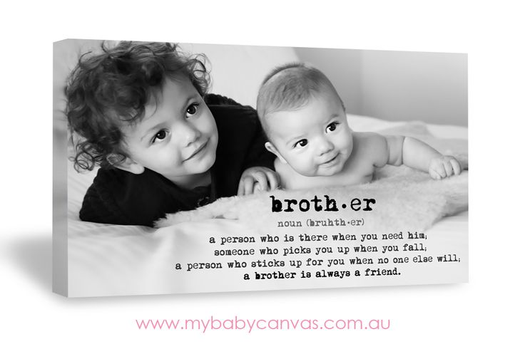 Brother Quote canvas design