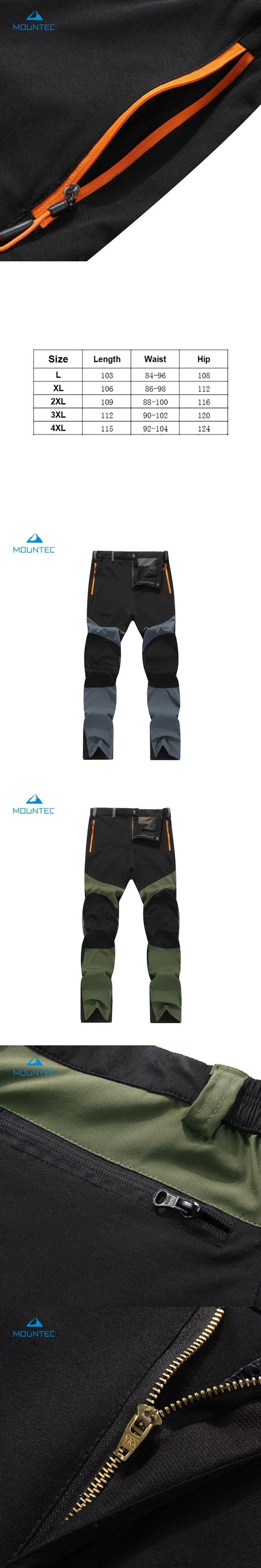 MOUNTEC Man Spring Autumn Fishing Waterproof Camping Trekking Wearable Outdoor Hiking Pants Climbing Softshell Trouser Travel