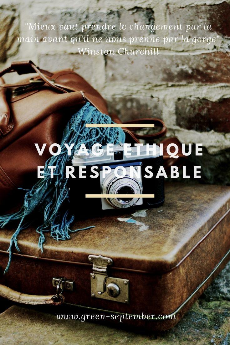 Ma charte évolutive de voyage éthique et responsable