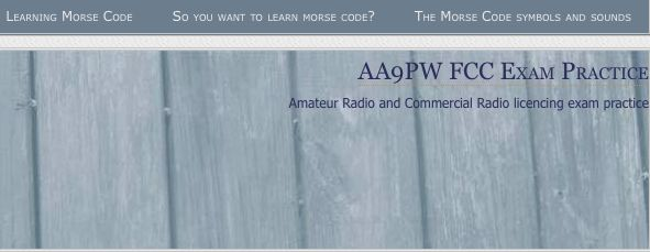 Website to learn and practice morse code in order to pass Ham Radio exam