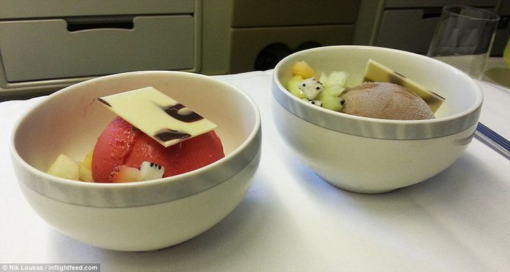 Haagen Daz with many flavours on Singapore Airlines