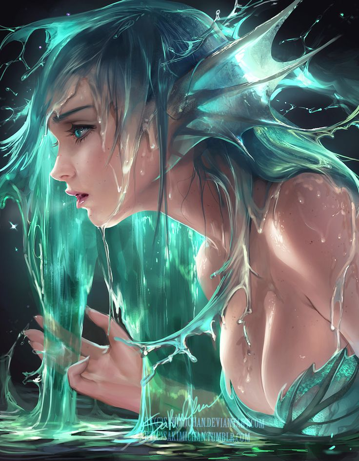 Water siren, sakimi chan on ArtStation at https://www.artstation.com/artwork/WrXOD?utm_campaign=notify&utm_medium=email&utm_source=notifications_mailer