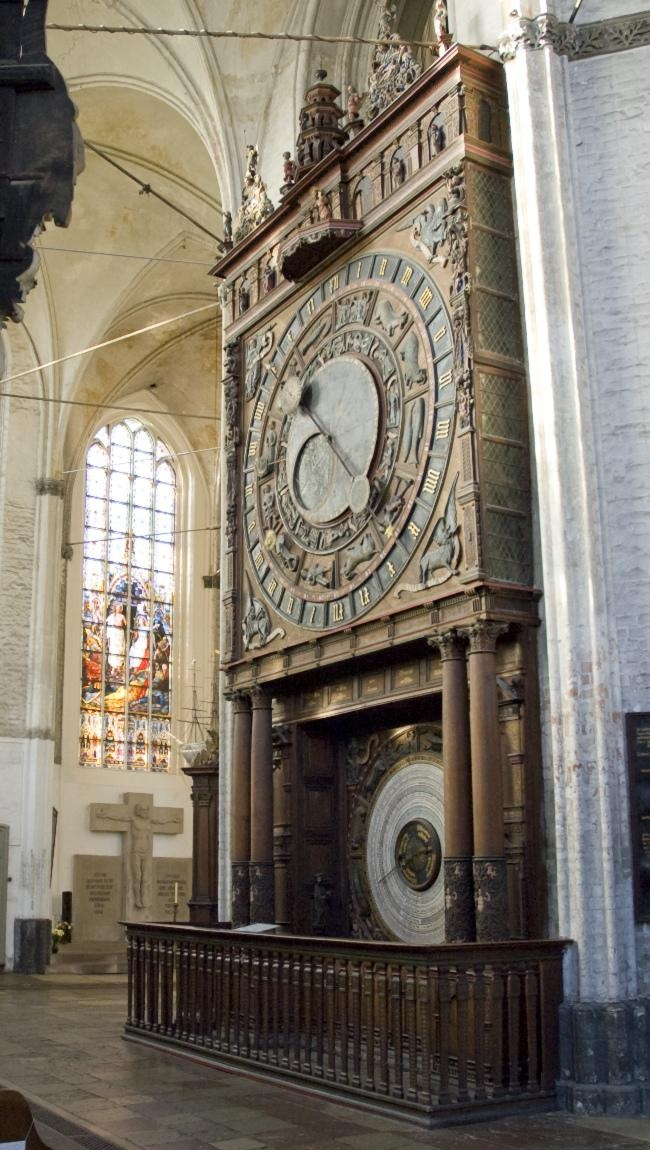 The medieval clock at St. Mary's Church in Rostock Germany offers a wide variety of temporal data which will be renewed in 2017.