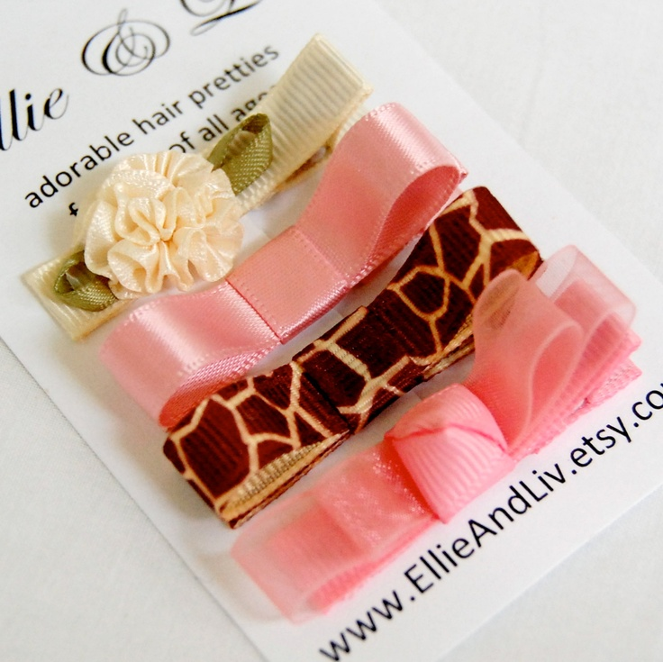 The Blush and Cream Collection  Baby Hair Clip Gift by EllieAndLiv, $7.15