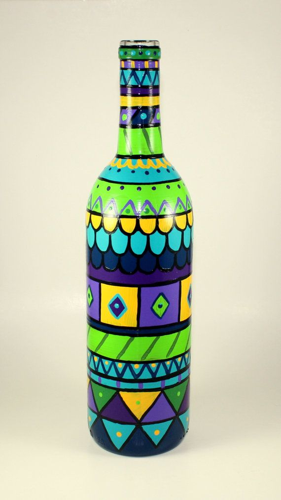 The 25 best painted bottles ideas on pinterest painting for Paint bottles with tips