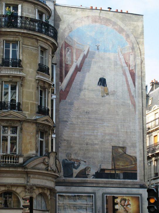 Trompe l'œil, Rue Etienne Marcel, Paris
